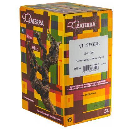 Vi Negre Caterra Negre - Box 3 l.  Caterra 3 l.