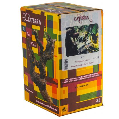 Vi Negre Caterra Negre Bóta - Box 3 l.  Caterra 3 l.